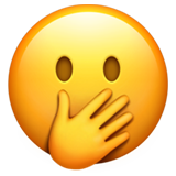 Face with Hand Over Mouth on Apple iOS 14.2