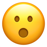 Face with Open Mouth on Apple iOS 14.2