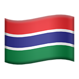 Flag: Gambia on Apple iOS 14.2