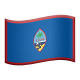 Flag: Guam on Apple iOS 14.2