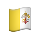 Flag: Vatican City on Apple iOS 14.2