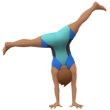 Man Cartwheeling: Medium Skin Tone on Apple iOS 14.2