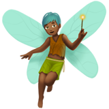 Man Fairy: Medium-Dark Skin Tone on Apple iOS 14.2