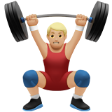 Man Lifting Weights: Medium-Light Skin Tone on Apple iOS 14.2