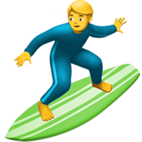 Man Surfing on Apple iOS 14.2