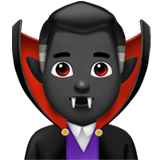 Man Vampire: Dark Skin Tone on Apple iOS 14.2