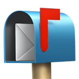 Open Mailbox with Raised Flag on Apple iOS 14.2