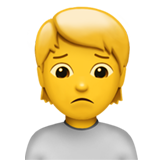 Person Frowning on Apple iOS 14.2