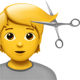 Person Getting Haircut on Apple iOS 14.2