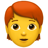 Person: Red Hair on Apple iOS 14.2