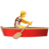 Person Rowing Boat on Apple iOS 14.2