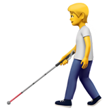 Person with White Cane on Apple iOS 14.2