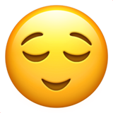 Relieved Face on Apple iOS 14.2