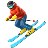 Skier on Apple iOS 14.2