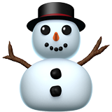 Snowman Without Snow on Apple iOS 14.2