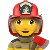 Woman Firefighter on Apple iOS 14.2
