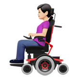 Woman in Motorized Wheelchair: Light Skin Tone on Apple iOS 14.2