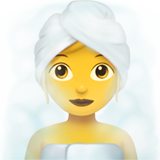Woman in Steamy Room on Apple iOS 14.2