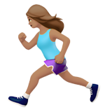 Woman Running: Medium Skin Tone on Apple iOS 14.2
