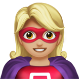 Woman Superhero: Medium-Light Skin Tone on Apple iOS 14.2