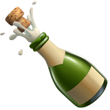 Bottle with Popping Cork on Apple iOS 14.5