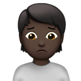 Person Frowning: Dark Skin Tone on Apple iOS 14.5