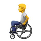 Person in Manual Wheelchair on Apple iOS 14.5