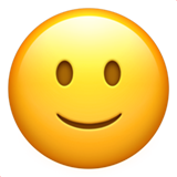 Slightly Smiling Face on Apple iOS 14.5
