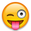 Winking Face With Tongue on Apple iOS 5.0