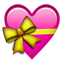 Heart With Ribbon on Apple iOS 5.0