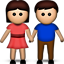 Woman and Man Holding Hands on Apple iOS 5.0