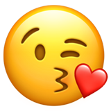 Face Blowing a Kiss on Apple iOS 14.6