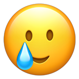 Smiling Face with Tear on Apple iOS 14.6