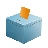 Ballot Box with Ballot on Apple iOS 9.1