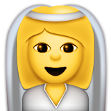 Bride With Veil on Apple iOS 9.1