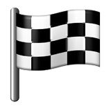 Chequered Flag on Apple iOS 9.1