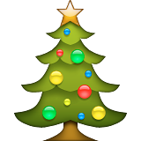 Christmas Tree on Apple iOS 9.1