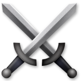 Crossed Swords on Apple iOS 9.1