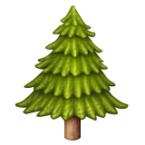 Evergreen Tree on Apple iOS 9.1