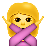 Person Gesturing No on Apple iOS 9.1