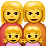 Family: Woman, Woman, Girl, Girl on Apple iOS 9.1