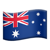 Flag: Australia on Apple iOS 9.1