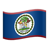 Flag: Belize on Apple iOS 9.1