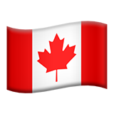 Flag: Canada on Apple iOS 9.1