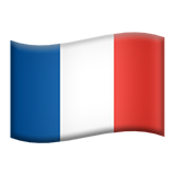 Flag: France on Apple iOS 9.1