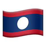 Flag: Laos on Apple iOS 9.1