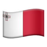 Flag: Malta on Apple iOS 9.1
