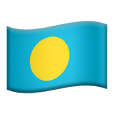 Flag: Palau on Apple iOS 9.1