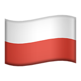 Flag: Poland on Apple iOS 9.1