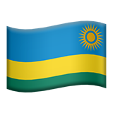 Flag: Rwanda on Apple iOS 9.1